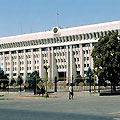 The White House in Bishkek is the office building of the President of the Kyrgyz Republic