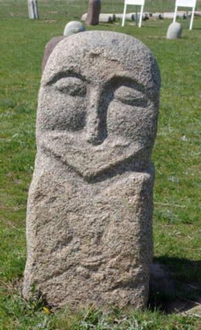 Балбалы - каменные идолы. Буранинское городище