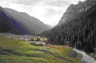 Altyn Arashan Valley. Kyrgyzstan